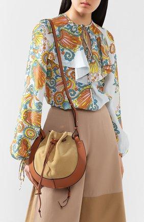 Женская сумка horseshoe LOEWE светло-коричневого цвета, арт. A826301X02   Фото 2