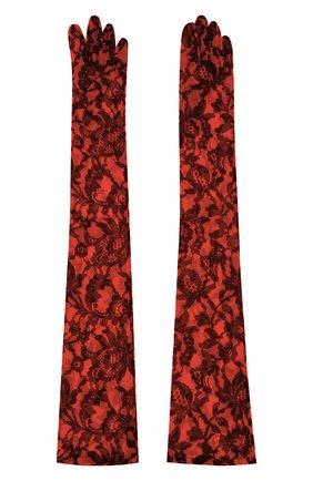 Женские перчатки DRIES VAN NOTEN красного цвета, арт. 201-10101-782 | Фото 2