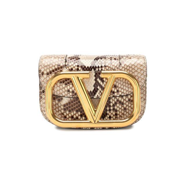 Сумка Valentino Garavani SuperVee из кожи питона Valentino
