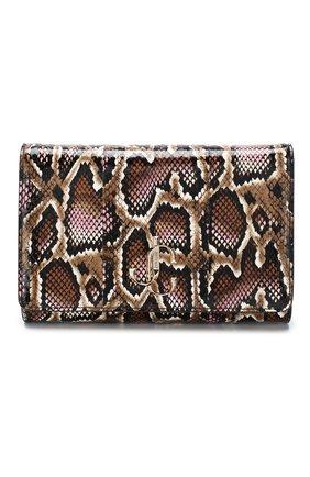 Женская сумка varenne JIMMY CHOO темно-коричневого цвета, арт. VARENNE CLUTCH/YDE | Фото 1