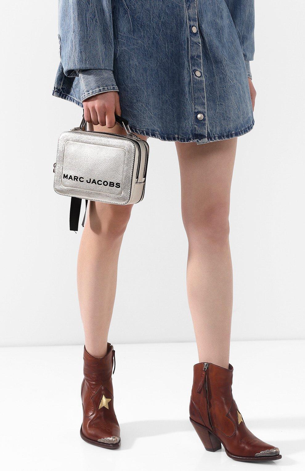 Женская сумка the box 20 MARC JACOBS (THE) серебряного цвета, арт. M0016183 | Фото 2