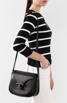 Женская сумка t singola TOD'S черного цвета, арт. XBWTSIC0100R0R | Фото 2