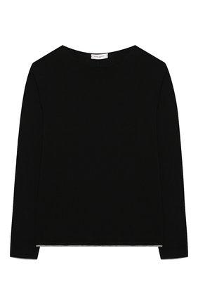 Детский хлопковый пуловер PAOLO PECORA MILANO черного цвета, арт. PP2115/8A-12A | Фото 1