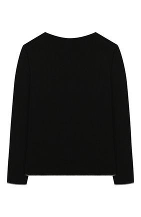 Детский хлопковый пуловер PAOLO PECORA MILANO черного цвета, арт. PP2115/14A-16A | Фото 2