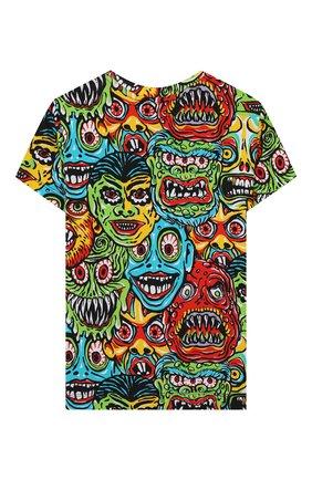 Детская хлопковая футболка MOSCHINO KID разноцветного цвета, арт. H0M02Q/LBB32/4A-8A | Фото 2