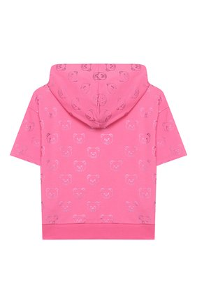 Детский хлопковая толстовка MOSCHINO KID розового цвета, арт. HDF02F/LDB42/4A-8A | Фото 2
