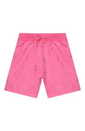 Детские хлопковые шорты MOSCHINO KID розового цвета, арт. HDQ002/LDB42/4A-8A | Фото 1