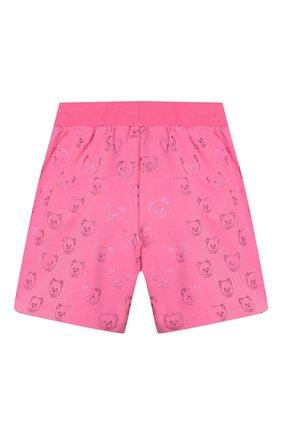 Детские хлопковые шорты MOSCHINO KID розового цвета, арт. HDQ002/LDB42/4A-8A | Фото 2