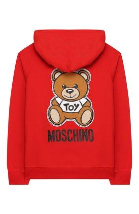 Детский хлопковая толстовка MOSCHINO KID красного цвета, арт. HUF03F/LDA00/4A-8A | Фото 2