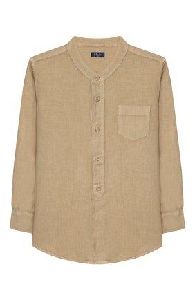 Детская льняная рубашка IL GUFO бежевого цвета, арт. P20CL016L6006/2A-4A   Фото 1