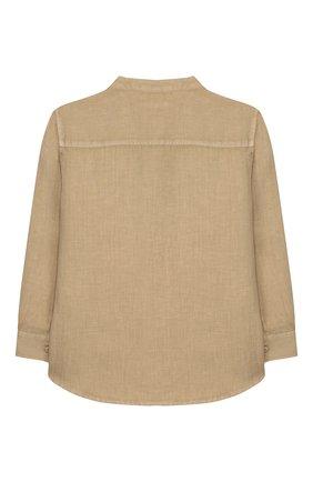 Детская льняная рубашка IL GUFO бежевого цвета, арт. P20CL016L6006/2A-4A   Фото 2