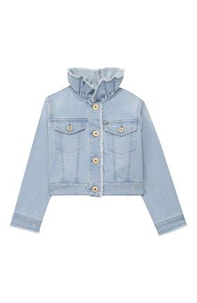 Детская джинсовая куртка IL GUFO голубого цвета, арт. P20GR146J0030/5A-8A | Фото 1