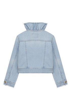 Детская джинсовая куртка IL GUFO голубого цвета, арт. P20GR146J0030/5A-8A | Фото 2