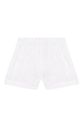 Детские льняные шорты IL GUFO белого цвета, арт. P20PS063L6009/5A-8A | Фото 1