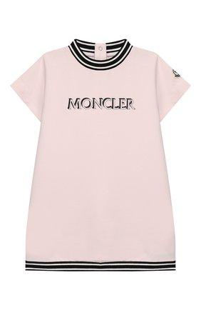 Женский комплект из футболки и шорт MONCLER розового цвета, арт. F1-951-8M711-10-809DQ | Фото 2