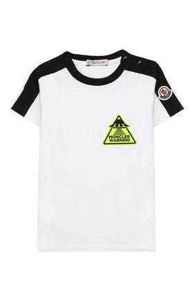 Детский комплект из футболки и шорт MONCLER черно-белого цвета, арт. F1-951-8M716-20-8790A | Фото 2