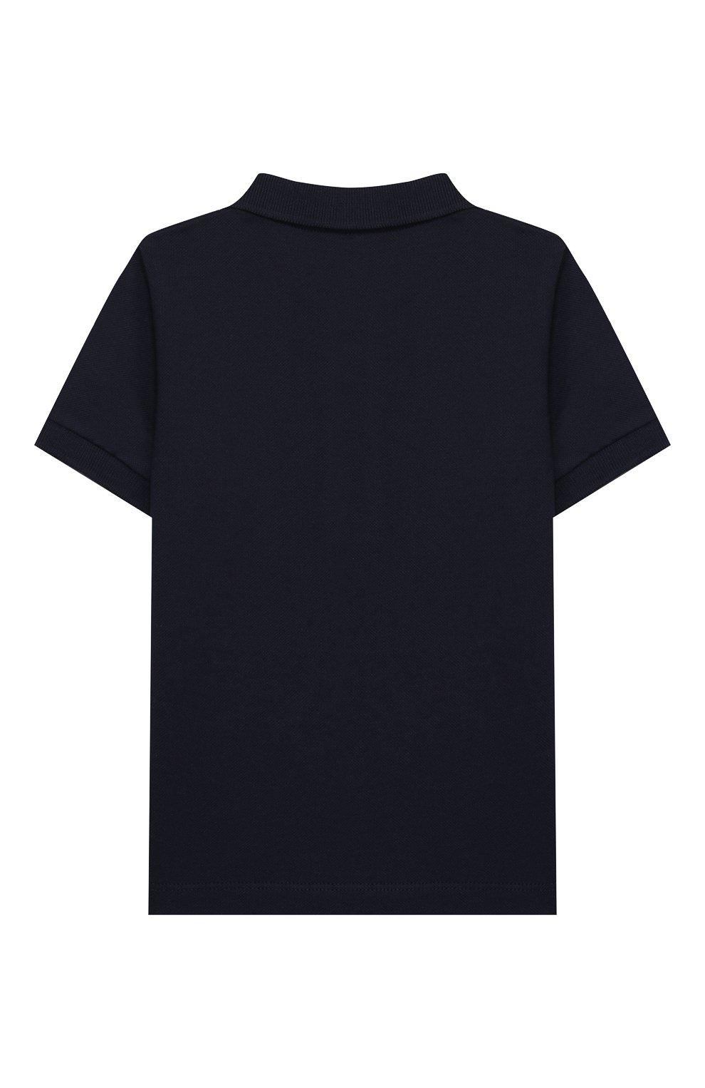 Детский комплект из поло и шорт MONCLER синего цвета, арт. F1-951-8M717-20-8496F | Фото 3
