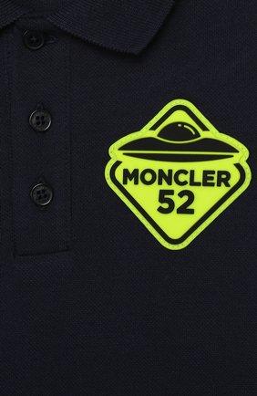 Детский комплект из поло и шорт MONCLER синего цвета, арт. F1-951-8M717-20-8496F | Фото 6