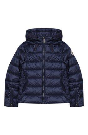 Детского пуховая куртка MONCLER темно-синего цвета, арт. F1-954-1A131-10-53048/8-10A   Фото 1