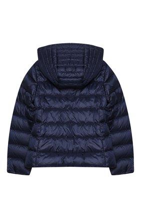Детского пуховая куртка MONCLER темно-синего цвета, арт. F1-954-1A131-10-53048/8-10A   Фото 2