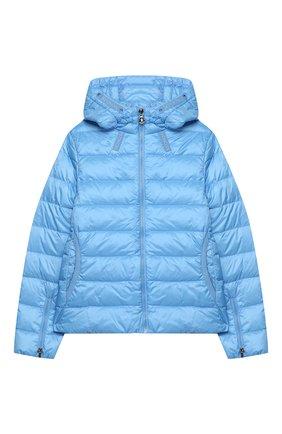 Детского пуховая куртка MONCLER голубого цвета, арт. F1-954-1A131-10-53048/12-14A   Фото 1