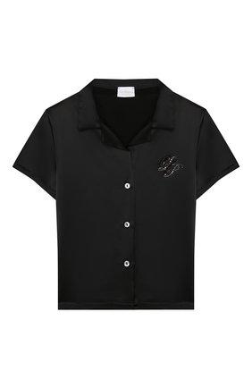 Детская шелковая пижама LA PERLA черного цвета, арт. 71191/2A-6A | Фото 2