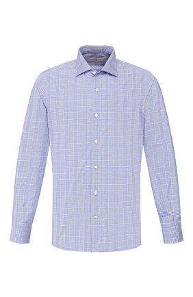 Мужская хлопковая сорочка LUCIANO BARBERA синего цвета, арт. 105489/72279 | Фото 1