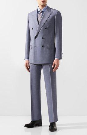 Мужская хлопковая сорочка LUCIANO BARBERA синего цвета, арт. 105489/72279 | Фото 2