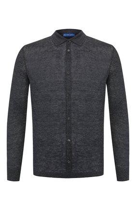 Мужская льняная рубашка ANDREA CAMPAGNA темно-серого цвета, арт. 57103/24806 | Фото 1