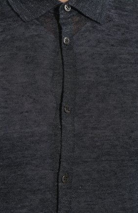 Мужская льняная рубашка ANDREA CAMPAGNA темно-серого цвета, арт. 57103/24806   Фото 5