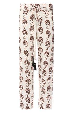 Мужской брюки из вискозы TRIPLE RRR белого цвета, арт. SS20 P009 0032 | Фото 1