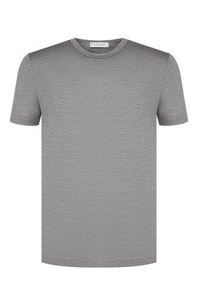 Мужская шелковая футболка CORTIGIANI темно-серого цвета, арт. 816650/0000 | Фото 1