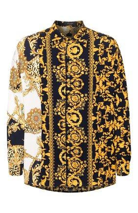 Мужская рубашка из вискозы RELIGION желтого цвета, арт. 49HBQH17 | Фото 1