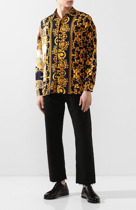 Мужская рубашка из вискозы RELIGION желтого цвета, арт. 49HBQH17 | Фото 2