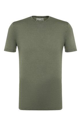 Мужская хлопковая футболка FEDELI хаки цвета, арт. 3UEF0113 | Фото 1