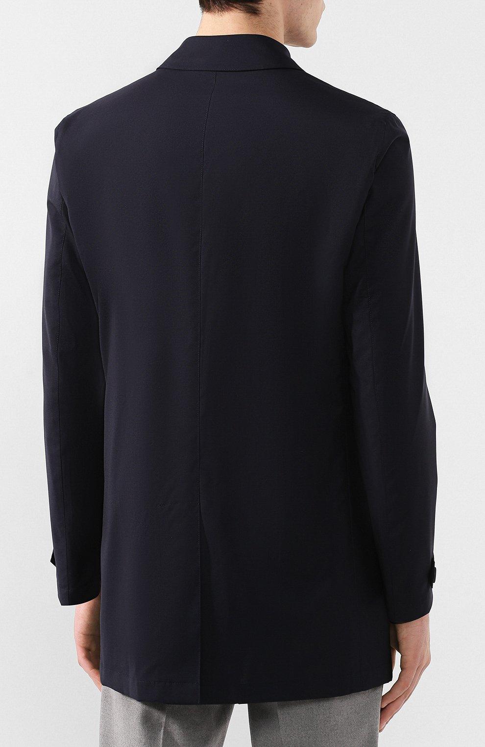 Мужской шерстяной плащ HERNO темно-синего цвета, арт. IM0253U/33238 | Фото 4
