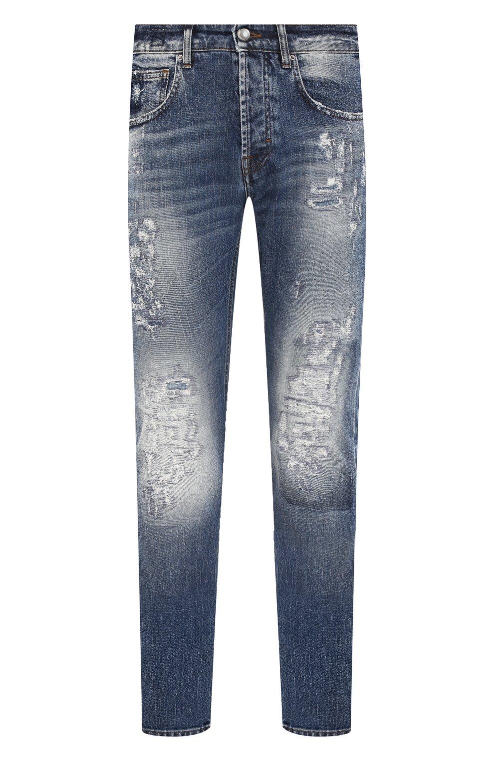 Мужские джинсы DON THE FULLER синего цвета, арт. DHS0/NEWY0RK/DTF/UT   Фото 1