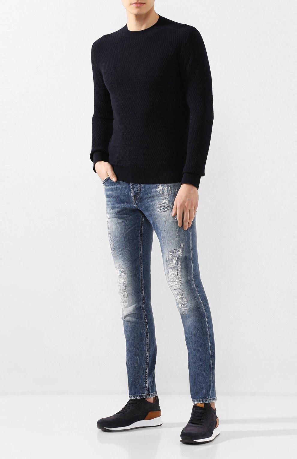 Мужские джинсы DON THE FULLER синего цвета, арт. DHS0/NEWY0RK/DTF/UT   Фото 2