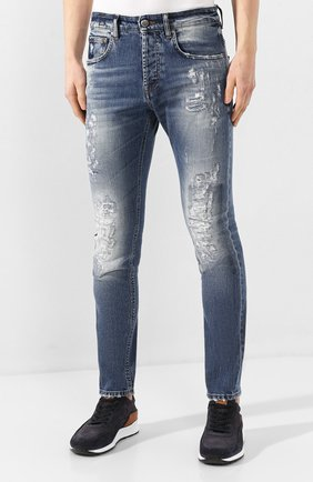 Мужские джинсы DON THE FULLER синего цвета, арт. DHS0/NEWY0RK/DTF/UT   Фото 3