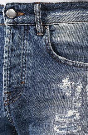 Мужские джинсы DON THE FULLER синего цвета, арт. DHS0/NEWY0RK/DTF/UT   Фото 5