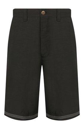 Мужские шорты из смеси вискозы и льна GIORGIO ARMANI хаки цвета, арт. 0SGPB00B/T00RJ | Фото 1