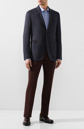 Мужские кожаные оксфорды MAGNANNI бордового цвета, арт. 22731/WIND | Фото 2