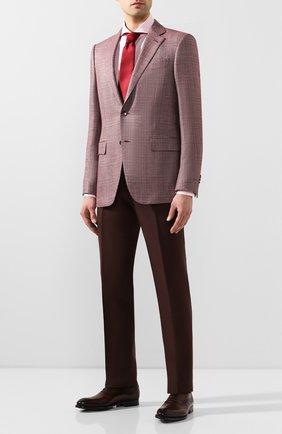 Мужские кожаные оксфорды MAGNANNI темно-коричневого цвета, арт. 22732/WIND | Фото 2