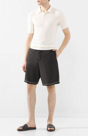 Мужские замшевые шлепанцы seaside walk LORO PIANA серого цвета, арт. FAI4870 | Фото 2