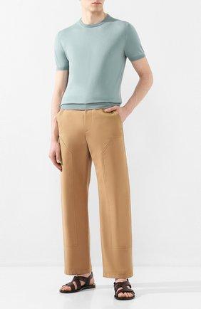 Мужские кожаные сандалии STEMAR темно-коричневого цвета, арт. 9397001/A | Фото 2