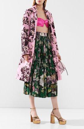 Женская хлопковая юбка DRIES VAN NOTEN зеленого цвета, арт. 201-10889-9400   Фото 2