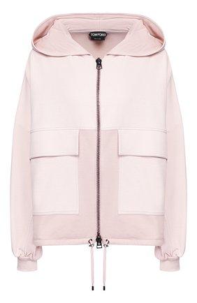 Женский кардиган из смеси шелка и хлопка TOM FORD розового цвета, арт. GIJ014-FAX468 | Фото 1