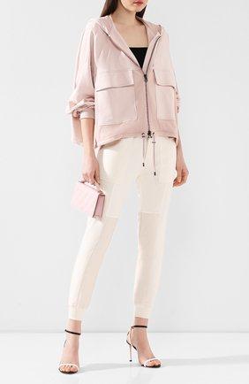 Женский кардиган из смеси шелка и хлопка TOM FORD розового цвета, арт. GIJ014-FAX468 | Фото 2
