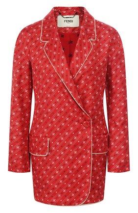 Женский шелковый жакет FENDI красного цвета, арт. FJ7023 A9DR | Фото 1