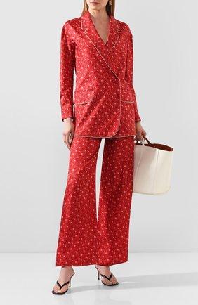 Женский шелковый жакет FENDI красного цвета, арт. FJ7023 A9DR | Фото 2